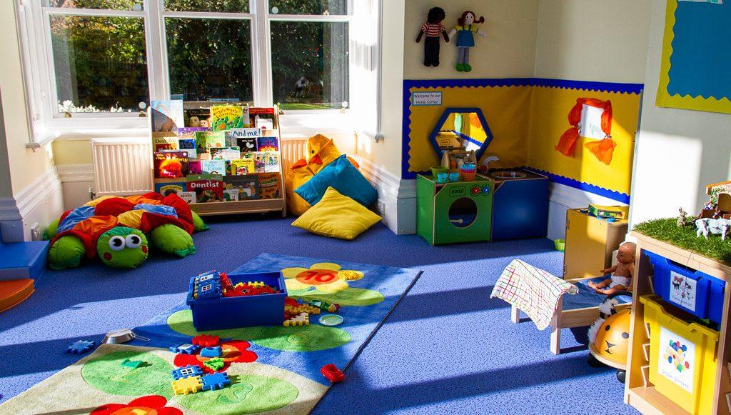 A corner of a nursery